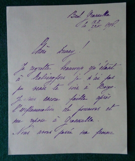 Antique Signed Letter  Grand Duke Gabriel Romanov Imperial Russia 1918 Bolshevik